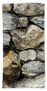 Rock Wall  Beach Towel by Les Cunliffe