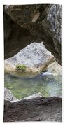 Rock Window Beach Towel by David Morefield