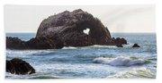 Heart Rock Near San Francisco Ca Cliff House Beach Sheet