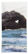Heart Rock Near San Francisco Ca Cliff House Beach Towel