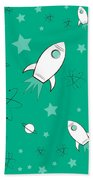 Rocket Science Green Beach Towel
