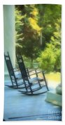 Rocking Chairs And Columns Beach Towel