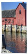 Rockport Fishing Village Beach Towel
