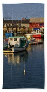 Rockport Harbor No.3 Beach Towel