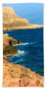 Rocks And Sea Beach Towel