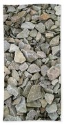 Rocks And Stones Texture Beach Towel