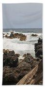 Rocks And Waves Beach Towel