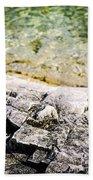 Rocks At Georgian Bay Beach Towel