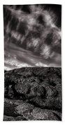 Rocks Clouds Water Beach Towel