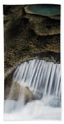 Rocks In Paradise Beach Towel by Inge Johnsson