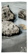 Rocks In The River Beach Towel