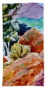 Rocks Near Red Feather Beach Towel