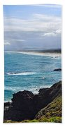 Rocks Ocean Surf And Sun Beach Towel