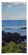 Rocks Of Lake Superior Beach Towel