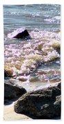 Rocks On The Bay Beach Towel