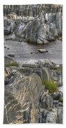 Rocky Arctic Shoreline Beach Towel