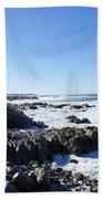 Rocky Beach Beach Towel by Barbara Snyder