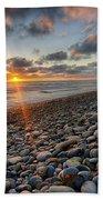 Rocky Coast Sunset Beach Towel
