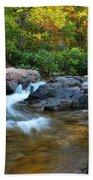 Rocky Creek Above Rocky Falls 1 Beach Towel