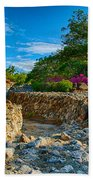 Rocky Garden Walk Beach Towel