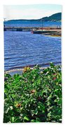 Rocky Harbour Roses-nl Beach Towel