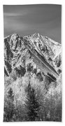 Rocky Mountain Autumn High In Black And White Beach Towel