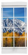 Rocky Mountain Autumn High White Picture Window Beach Towel