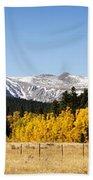 Rocky Mountain Autumn Beach Towel