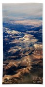 Rocky Mountain Peaks From Above Beach Sheet