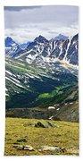 Rocky Mountains In Jasper National Park Beach Towel by Elena Elisseeva