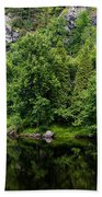 Rocky River Reflection Beach Towel