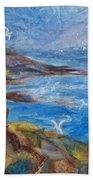 Rocky Shores Of Maine Beach Towel