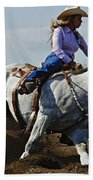 Rodeo Barrel Racer Beach Towel
