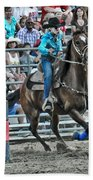 Rodeo Cowgirl Beach Towel by Gary Keesler