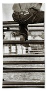 Rodeo Fence Sitters- Sepia Beach Towel
