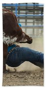 Rodeo Getting Down Beach Towel