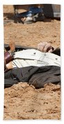 Rodeo Gunslinger Victim Color Beach Towel