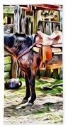 Rodeo Horse Three Beach Towel