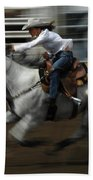 Rodeo Riding A Hurricane 1 Beach Towel