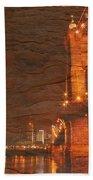 Roebling Bridge Stone N Wood Beach Towel