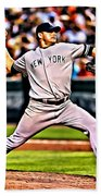 Roger Clemens Painting Beach Towel