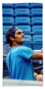 Roger Federer  Beach Towel