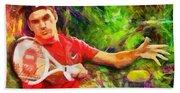 Roger Federer Beach Sheet