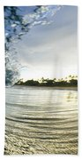 Rolled Gold Beach Towel by Sean Davey