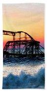 Roller Coaster After Sandy Beach Towel by Tony Rubino