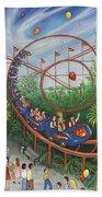 Roller Coaster Beach Towel