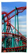Roller Coaster Painting Beach Towel
