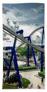 Rollercoaster Amusement Park Ride Beach Towel