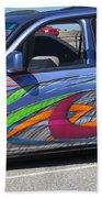 Rolling Art Lowrider Beach Towel