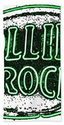Rolling Rock Lager Beach Towel